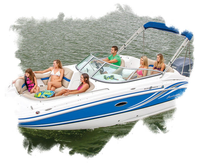 BE - Group of people riding a speed boat